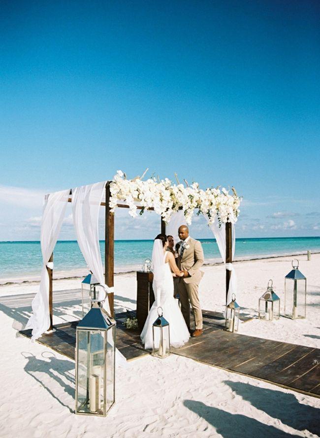 Beachfront Destination Wedding In Punta Cana Inspired By This Destination Wedding Punta Cana Beach Wedding Photos Destination Wedding Decor