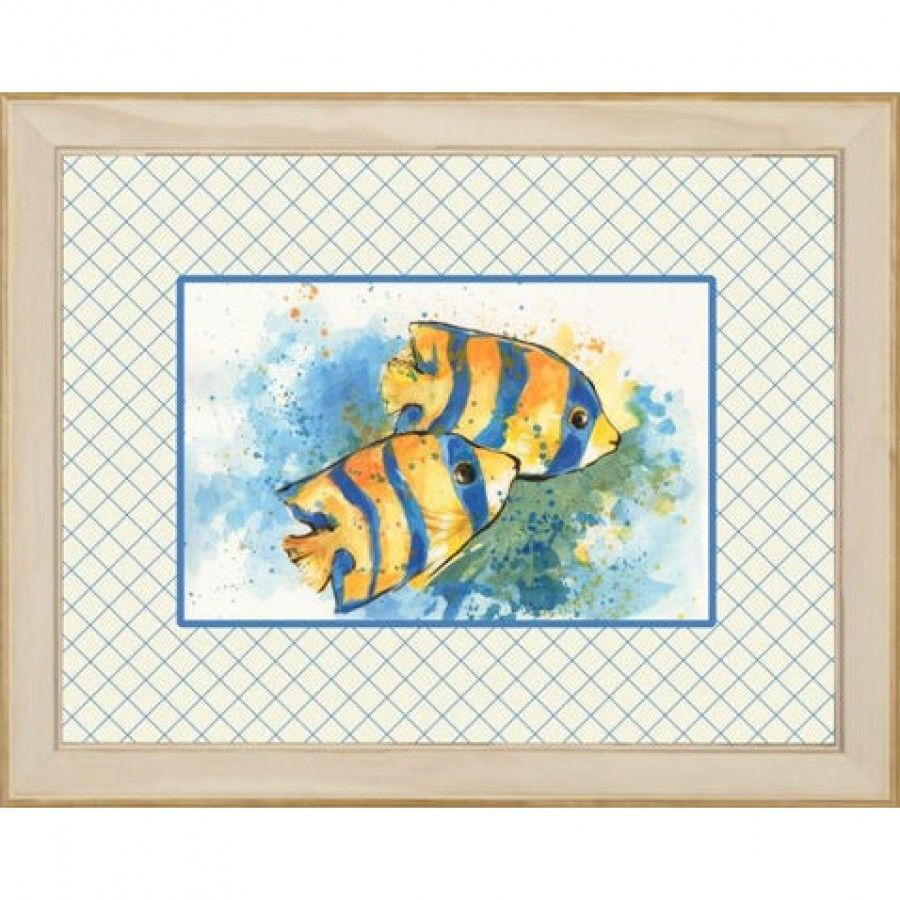 Phoenix galleries angel fish framed print hpm frame print