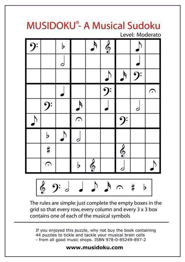 Music and sudoku | zene | Pinterest | Musikalisch