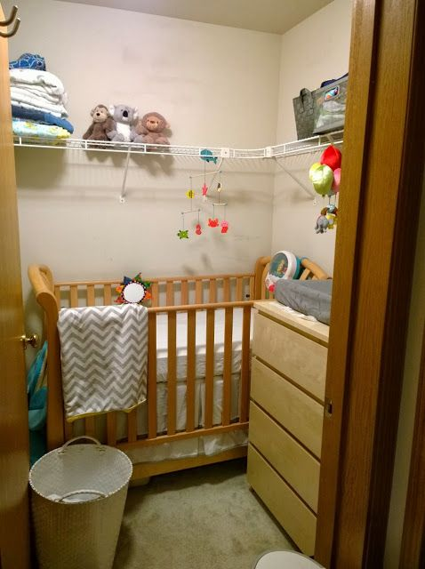 Baby in a Closet (With images) Small baby room