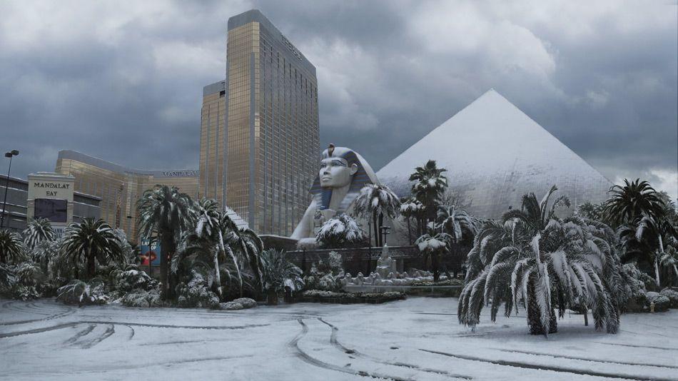 Las Vegas Snow Storm 2008 The Storm Matte Paintings