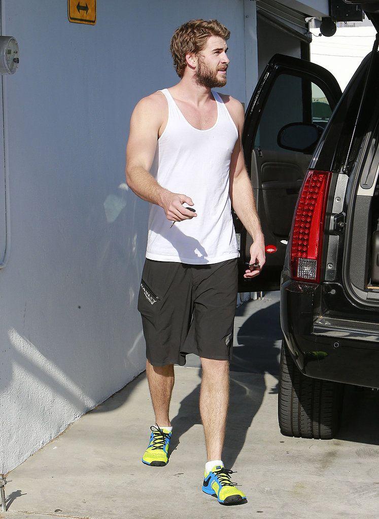 Liam Hemsworth Leaving Gym in LA   POPSUGAR Celebrity