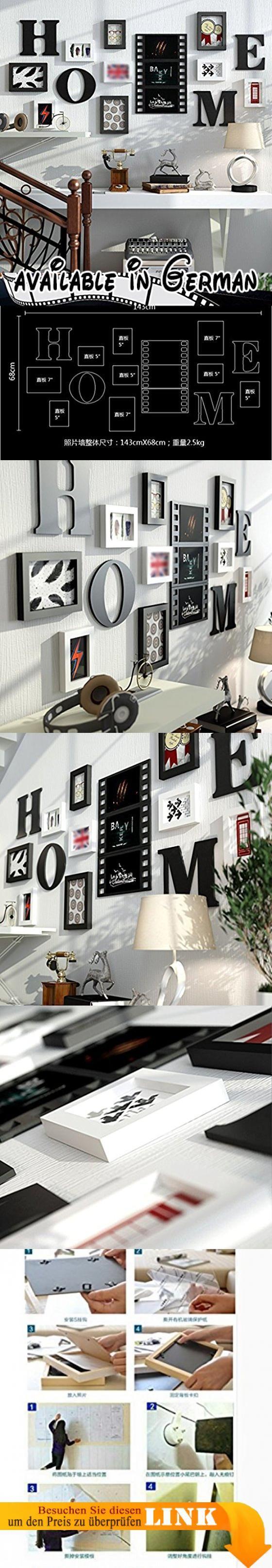 YMXLQQ Vintage Holz Wand Bilderrahmen Bilderrahmen Schlafzimmer ...
