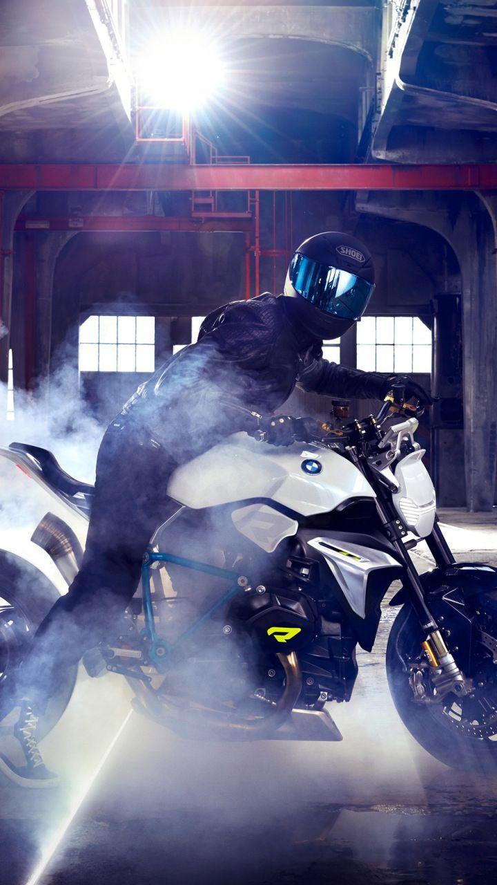 BMW concept roadster, motorcycle, smoke, bike, 720x1280 ...