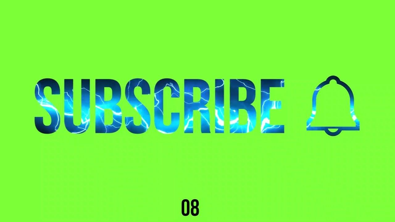 Subscribe Bell Icon Electric Green Screen No Copyright Greenscreen Free Green Screen Screen Timer