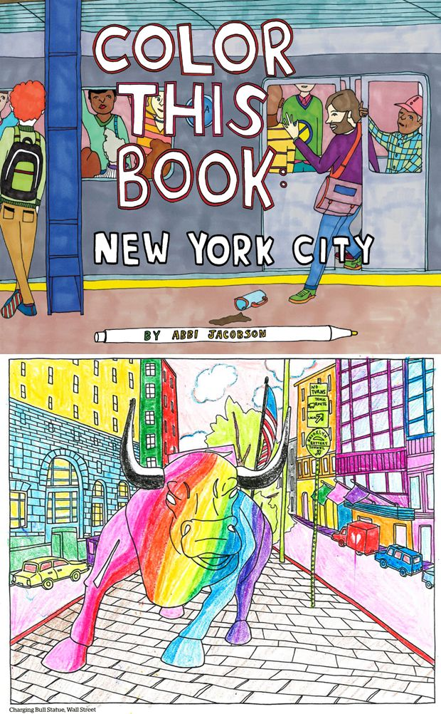 A New York City Coloring Book Abbi Jacobson Designed So You Can Make Your Own Sketch Of The