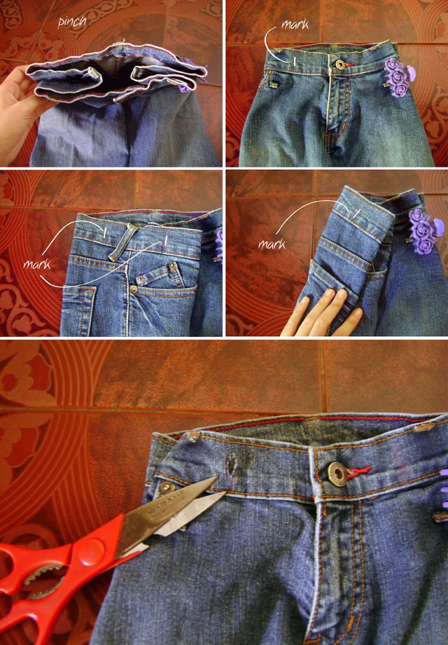 Back to School DIY Denim Backpack from Old Jeans  7846a73d282