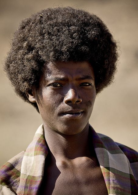 afar young man with traditional
