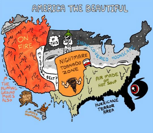 Americas Beautiful Weather Zones Weather Humor and Stuffing