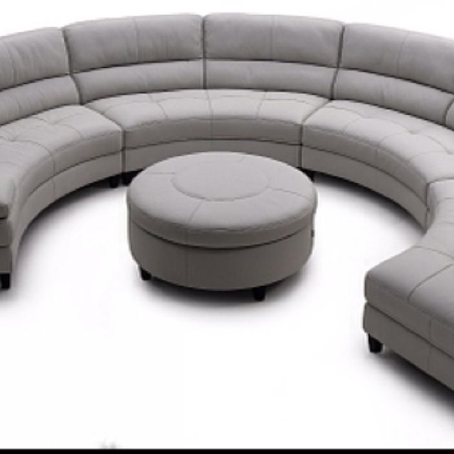 Our New 1 2 Circle Sofa And Ottoman Delivery Wednesday Round Sectional Round Sofa Contemporary Sectional Sofa