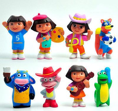 Dora the Explorer Action Figure Figurines Cartoon Display Toy Cake Topper Decor
