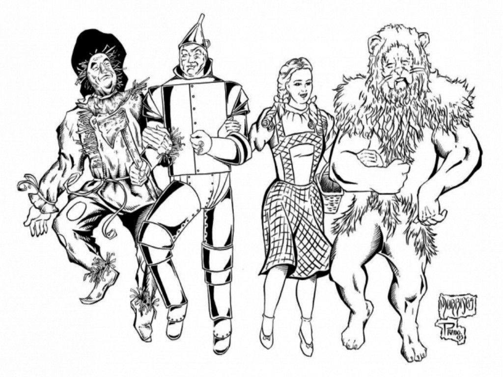 Wizard Of Oz Characters Coloring Pages With Images Wizard Of
