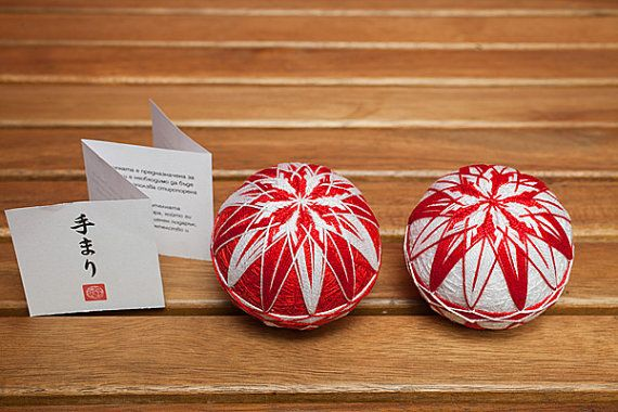 Each Temari is packed in a little origami folded box and comes with a little info booklet.    The listing is for 1 (one) ball, please specify which