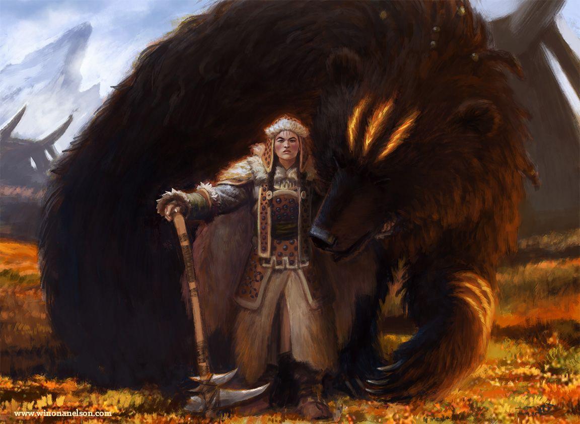 spassundspiele:  Bear's Companion – Magic the Gathering concept by Winona Nelson