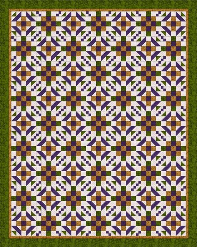 Sew hopscotch a beginner friendly baby quilt pattern maze a walk through the maze is a free quilt pattern designed with two traditional quilt blocks fandeluxe Image collections