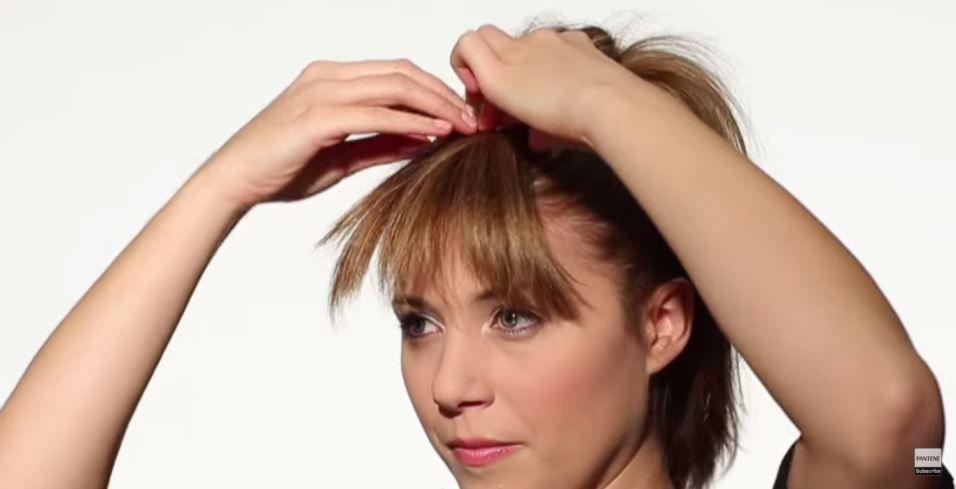 Fake Bangs Hairstyle Alluring How To Make Fake Bangs  Step 3  Attiremakeuphair  Pinterest