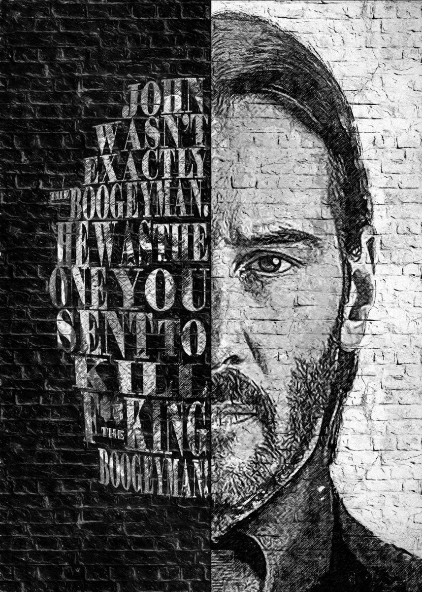 Zdenek Moravek Poster Print Collections Displate In 2021 John Wick Tattoo John Wick Movie Keanu Reeves John Wick John wick tattoo wallpaper