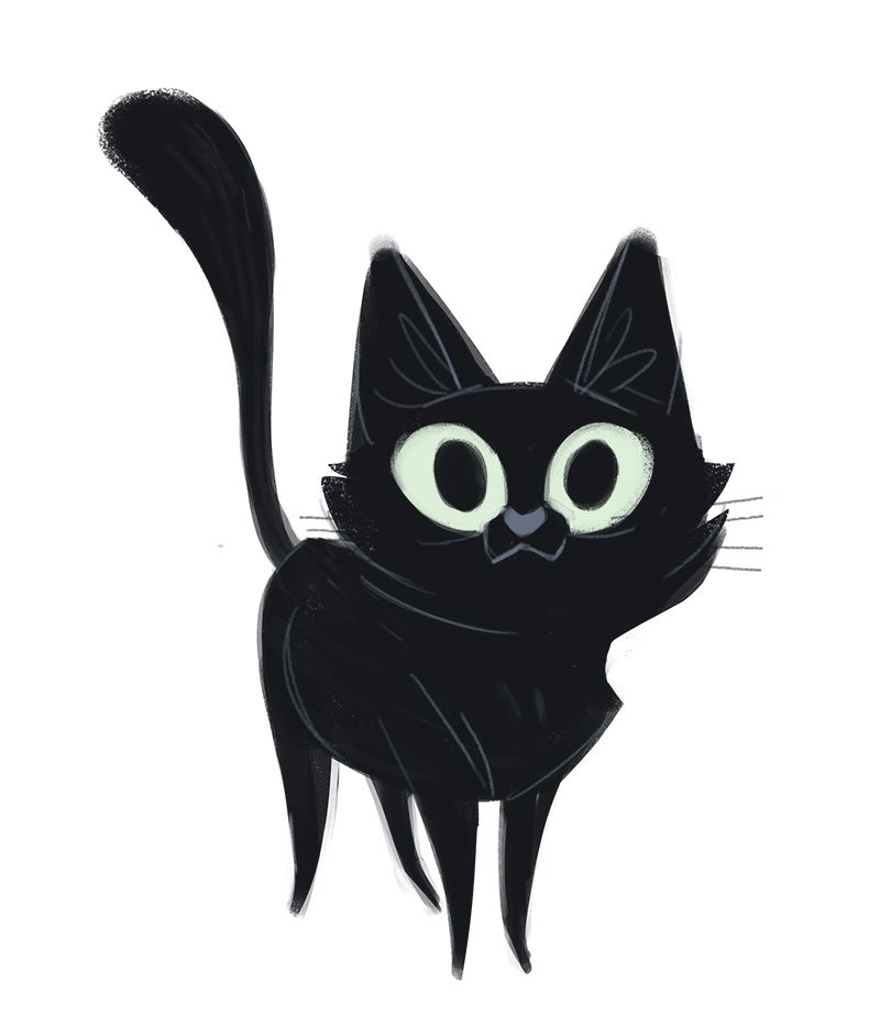 Black Cat Face Painting Cheak
