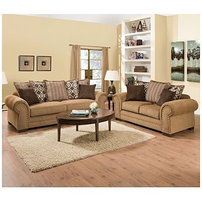 Simmons™ Lorenzo Teak Scatter Back Living Room Collection at Big