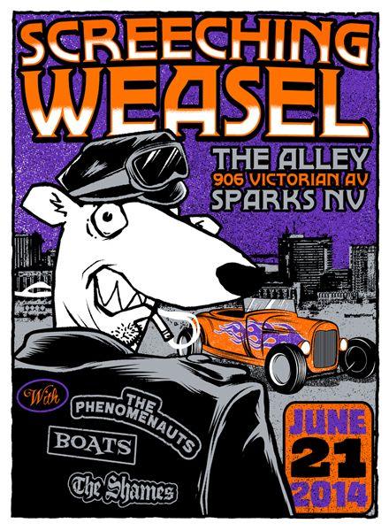 GigPosters.com - Screeching Weasel - Phenomenauts, The - Boats!! - Shames, The