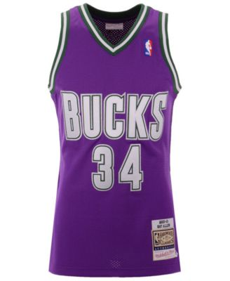 online store 4582c 6bff7 Mitchell & Ness Men Ray Allen Milwaukee Bucks Authentic ...