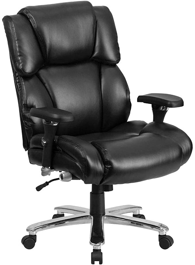 Amazon Com Flash Furniture Hercules Series 24 7 Intensive Use Big Tall 400 Lb Rated Black Leathersoft E Ergonomic Office Chair Flash Furniture Office Chair