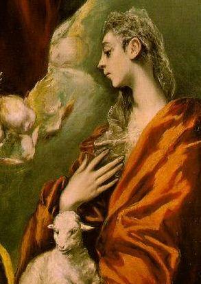 santa inés, por el Greco