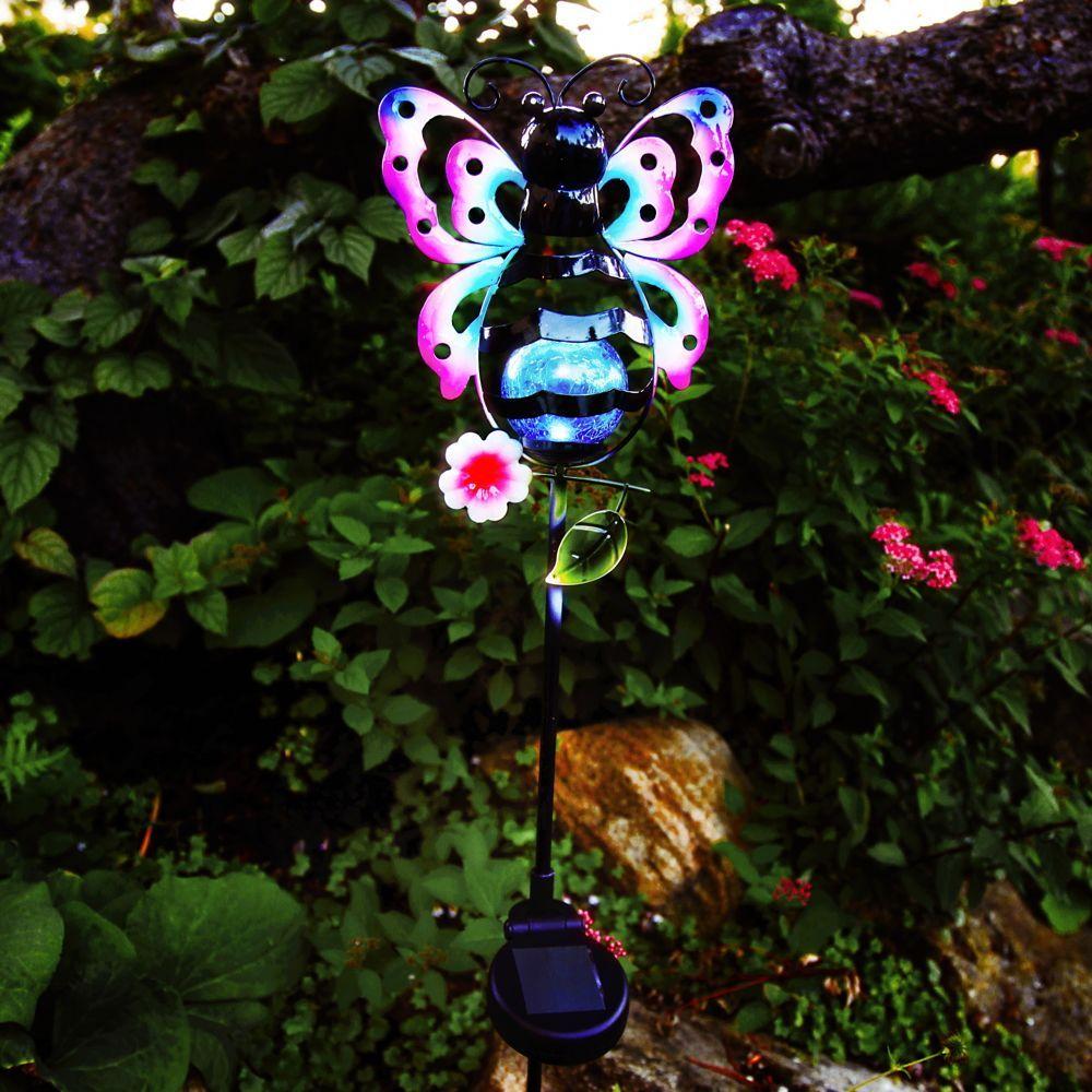 Erdspieaÿleuchte Sicly Mit Dekoration Schmetterling Inkl Sensor Und Led Best Season 479 08 Dekoration Led Aussenleuchten