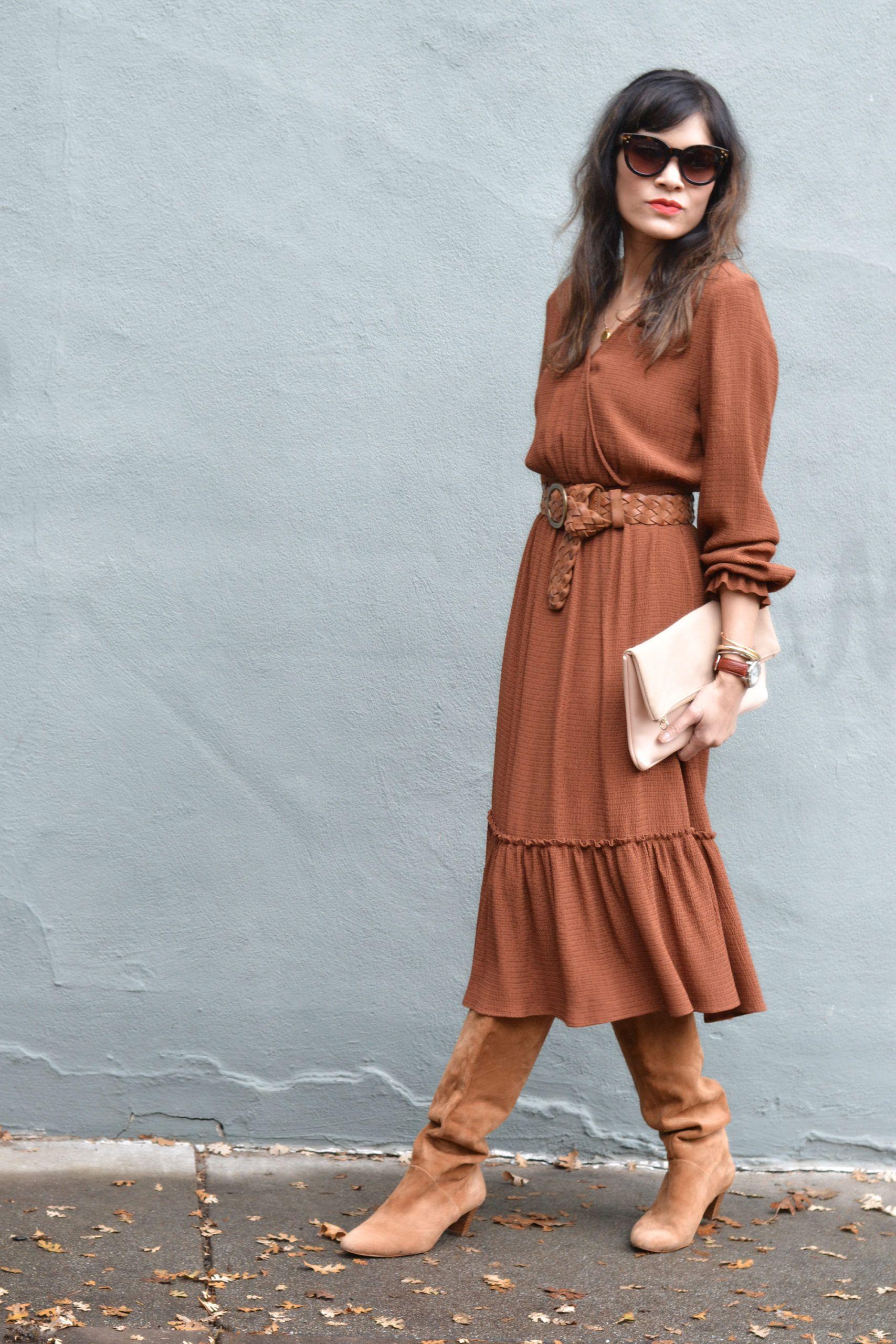 Midi Dress French Girl Style Gamine Stripes French Girl Style French Girl Midi Dress [ 2560 x 1707 Pixel ]