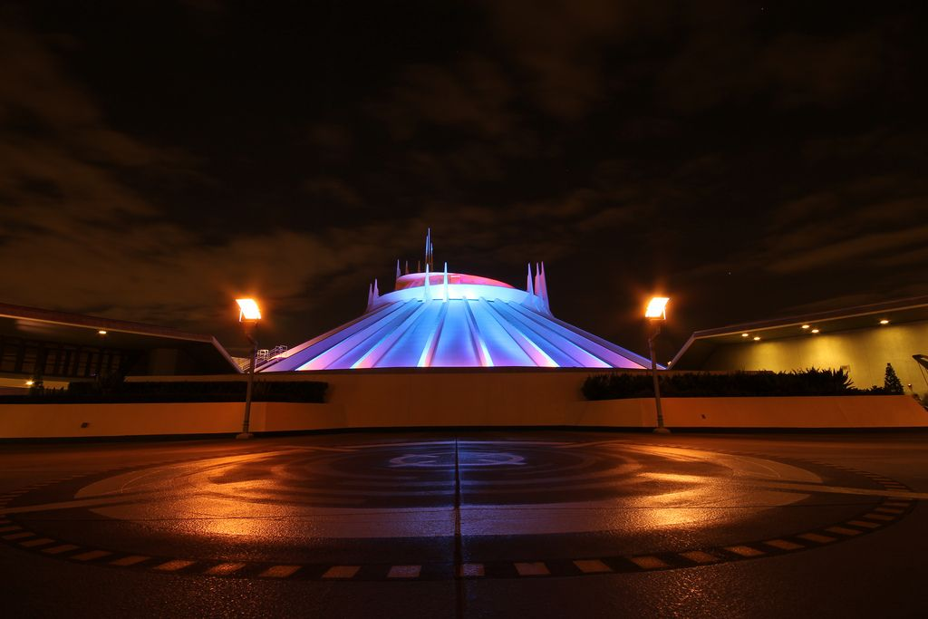 Disneyland At Night - Space Mountain.