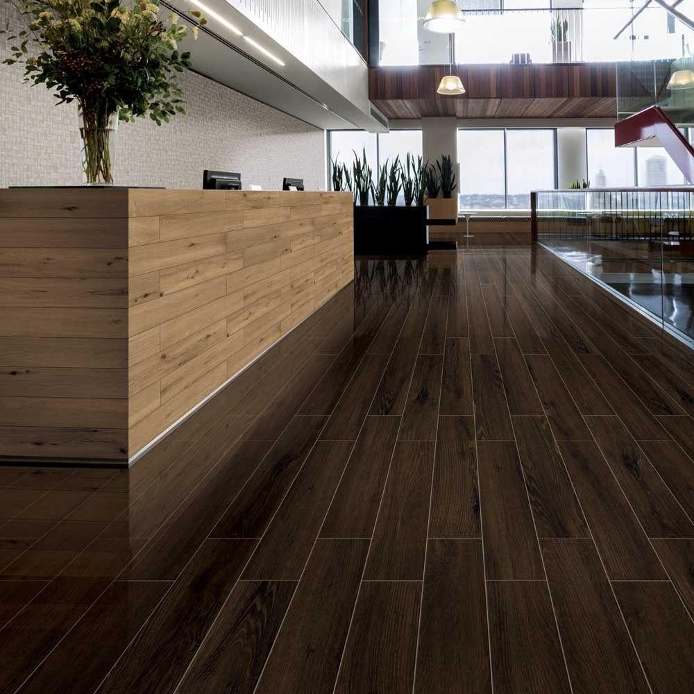 Polished Dark Walnut Wood Effect Tiles Lambent Polished Wood Tiles 800x130x9 5mm Tiles Wood Effect Tiles Wood Effect Floor Tiles Wood Polish