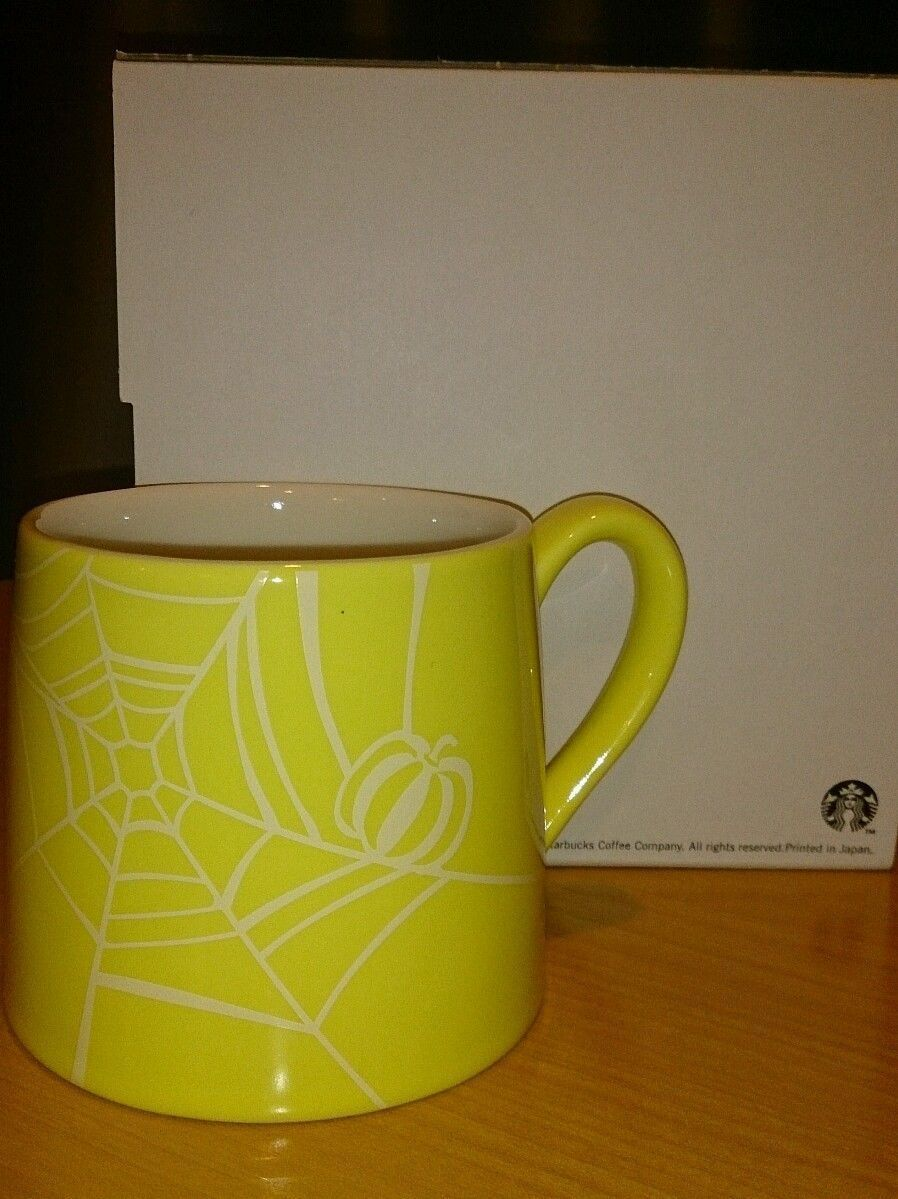starbucks mug halloween version japan limited yellow brand new