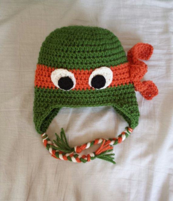 Teenage mutant ninja turtle crochet hat ear by Kamillascrochet ...