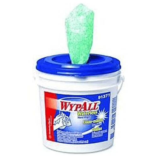 Wypall Waterless Hand Wipes 75 Premoistened Wipes Per Bucket 6