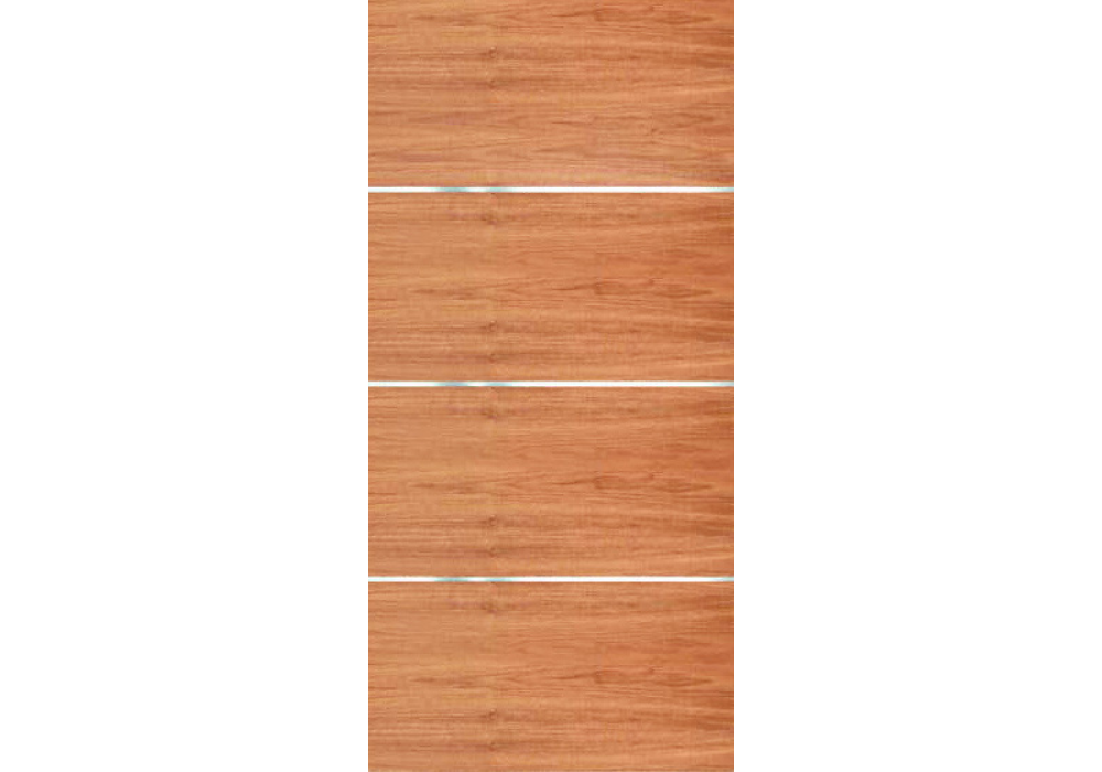 Movida Mahogany Flush Door With 1 4 Horizontal Aluminum Strips 1 3 4 Eto Doors Flush Doors Mahogany Doors Interior