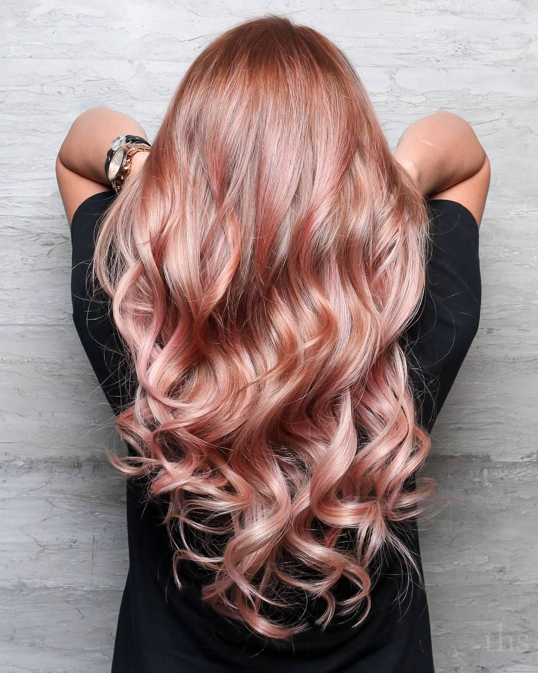 Rose Gold Hair Painting And