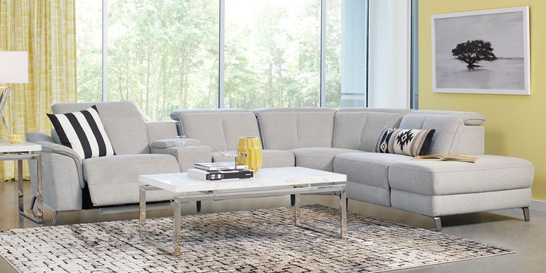 Hudson Heights White 2 Pc Sectional Rooms To Go In 2020 Reclining Sectional Living Room Sets Furniture Living Room Sectional