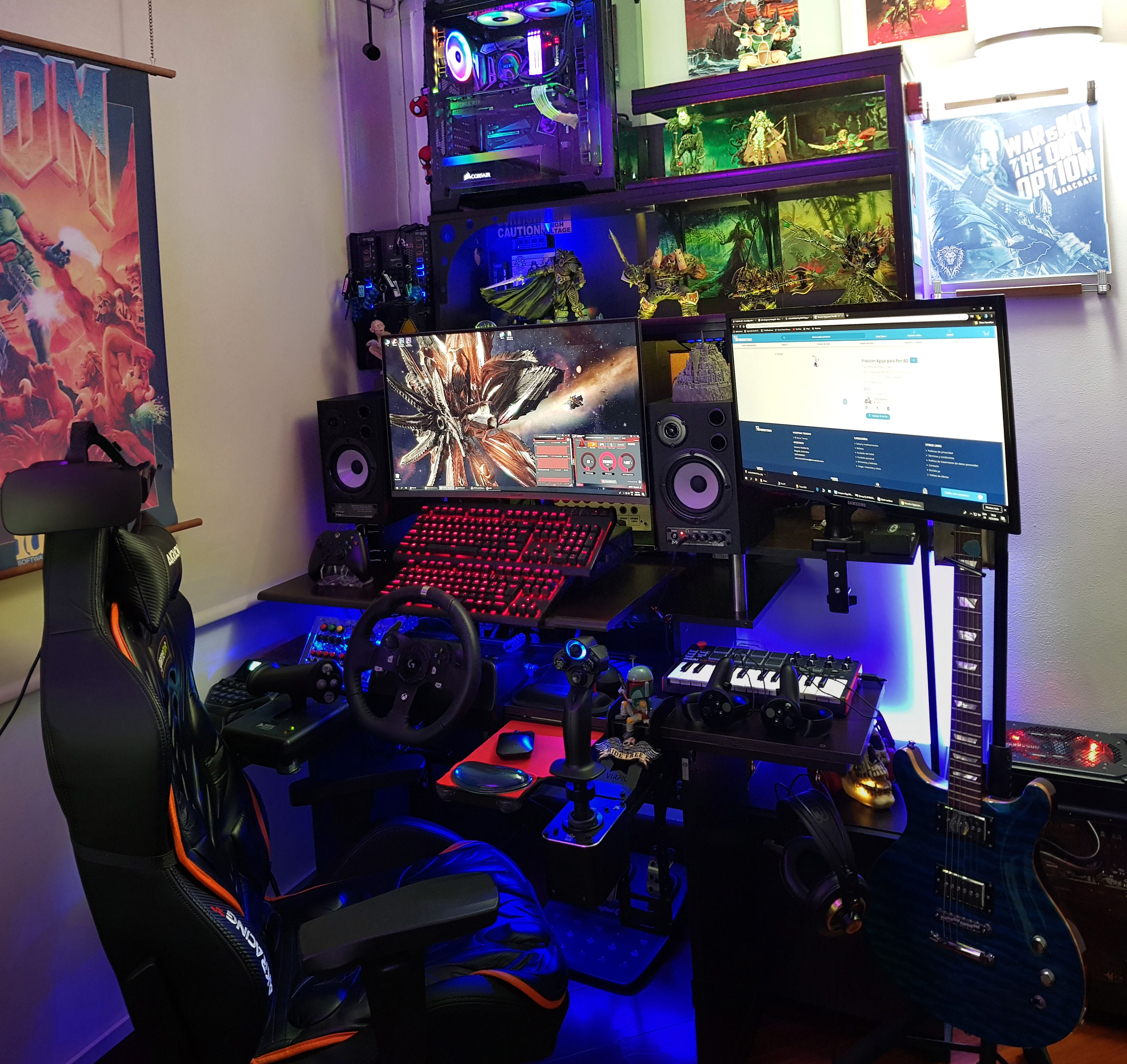 Gaming Desk Setup By Shucioh - Shucioh plays VR games