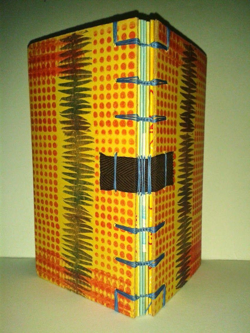 maninellarte : Quaderno con piatti a origami e cucitura all'inglese incrociata.