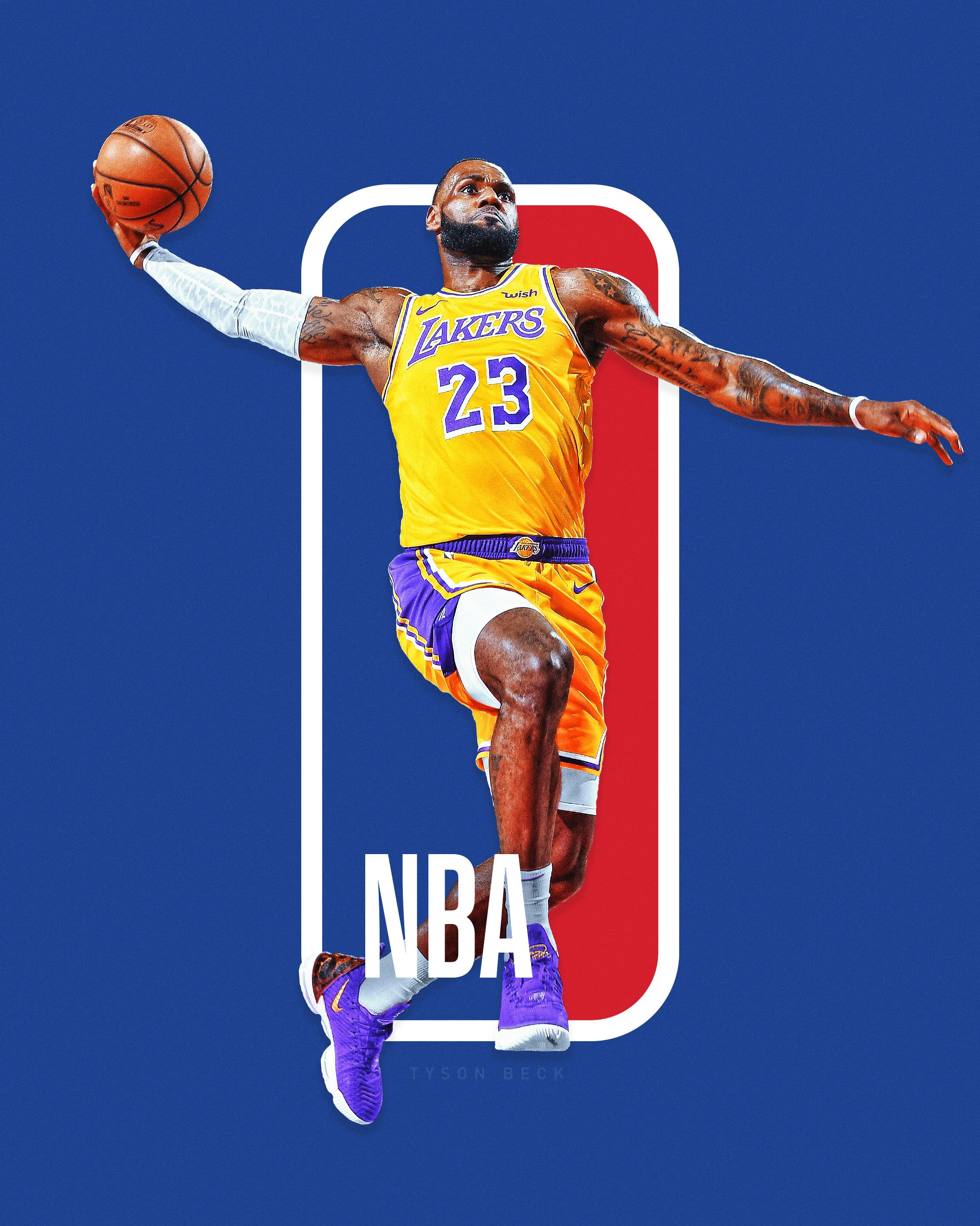 The Next Nba Logo Nba Logoman Series On Behance Nba Logo Nba Lebron James Nba