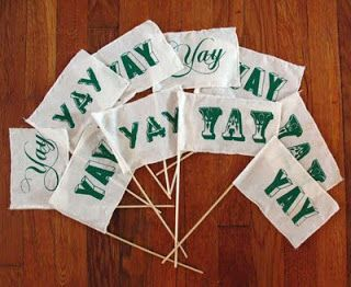 Special Occasion Custom Mini Flags Yay Diy Party Flags Preppy Wedding Kids Party Decorations