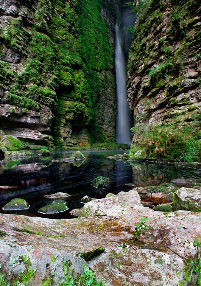 Cachoeira da Fumacinha - Chapada Diamantina, Bahia - (by Jaime Júnior).                  Ecoturismo  nordeste brasil