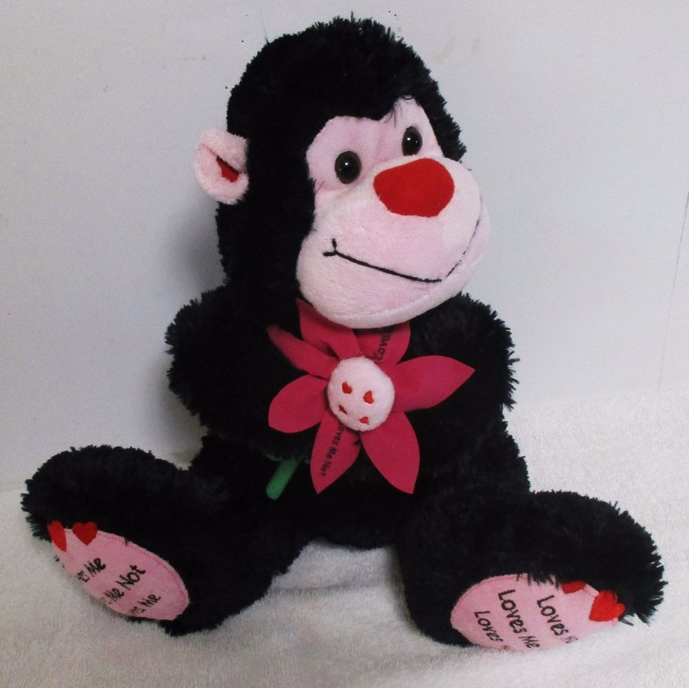 Loves Me Loves Me Not Plush Stuffed Soft Ape Valentines