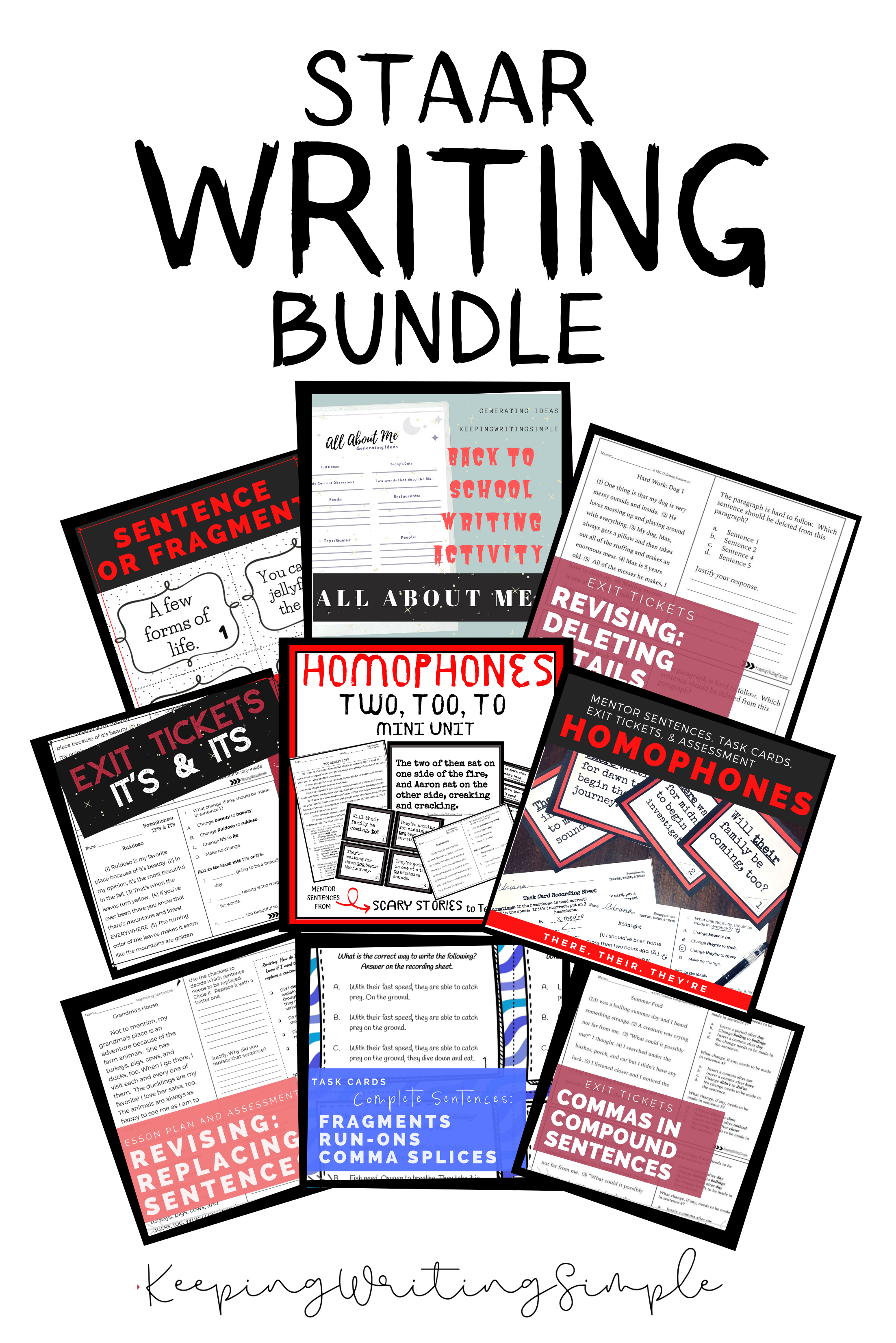 Staar Writing Revising Amp Editing Bundle Exit Tickets