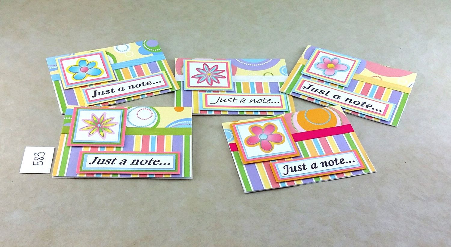 Flower Note Card, Any Occasion Notecard, Box Set Notecards, Handmade Notecard, Just A Note, One of a Kind Card, Blank Note Card, Blank Card by TheCardCornerNC on Etsy
