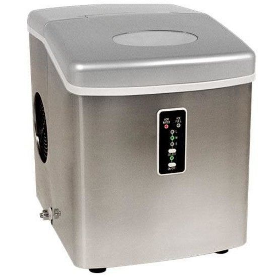 Portable Ice Maker Machine Compact Countertop 26 Lbs Cube Nugget Dispenser  Water #PortableIceMakerMachine
