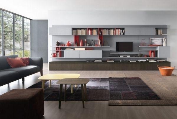 wohnung modern einrichten ideen fr wohnwand italienisches design - Wohnung Modern Einrichten Ideen