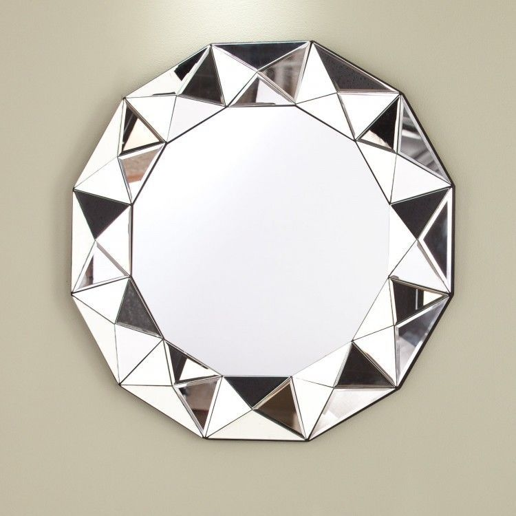 geometric wall mirror round