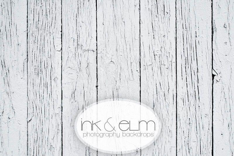 "Vinyl Photography Backdrop 5ft x 5ft, Photography Floordrop, Photo Vintage Distressed White Wood Floor, Photo backdrop, ""White Woodslats"". $52.95, via Etsy."