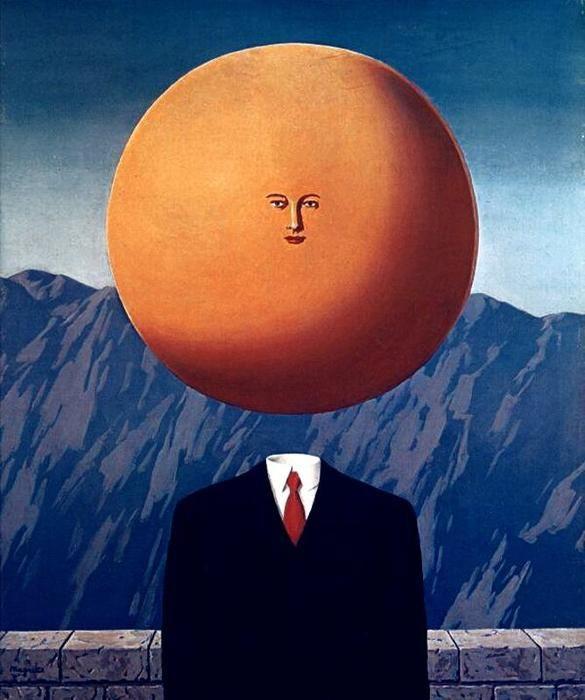 """L arte di vivere"", oliio di Rene Magritte (1898-1967, Belgium)"